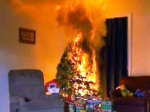 Decorate Chrismas tree fire safety