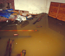 sump-pump flooded-basement