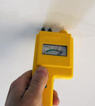 Structural Drying - moisture meter