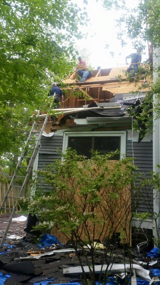tree damage - home disaster