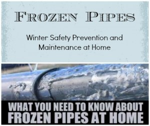 frozen pipes - winter safety prevention