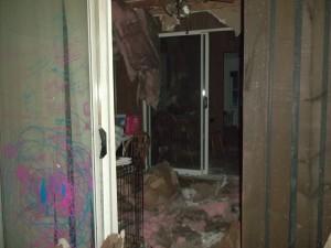 vandalism damage